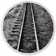 Alaska Tracks Round Beach Towel