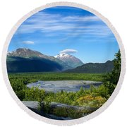 Alaska's Exit Glacier Valley Round Beach Towel