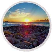 Alassio Sunset Round Beach Towel