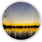 Alberta Sunrise Round Beach Towel