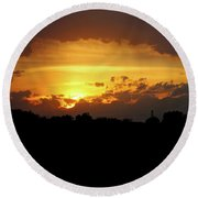 Alberta Sunset Round Beach Towel