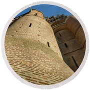 Albi Cathedral Low Angle Round Beach Towel by RicardMN Photography