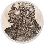 Albrecht D Rer 1471-1528 German Artist Round Beach Towel