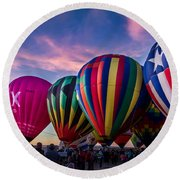 Albuquerque Hot Air Balloon Fiesta Round Beach Towel