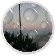 Alca Bubbles Round Beach Towel