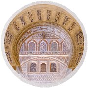 Alcazar Of Seville - Unique Architecture Round Beach Towel