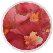 Alcohol Ink - 02 Round Beach Towel