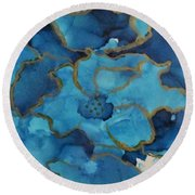 Alcohol Ink - 03 Round Beach Towel