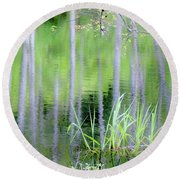 Alder Reflections Round Beach Towel by Sheila Ping