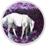 Alea's Unicorn  Round Beach Towel