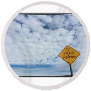 Alert Round Beach Towel