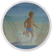 Alex On The Beach Round Beach Towel