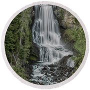 Round Beach Towel featuring the photograph Alexander Falls by Stephen Stookey