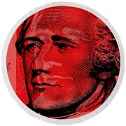 Alexander Hamilton - $10 Bill Round Beach Towel
