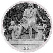 Alexander Pushkin Memorial Round Beach Towel