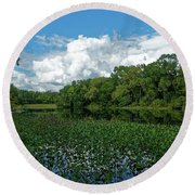 Round Beach Towel featuring the photograph Alexander Springs by Paul Mashburn