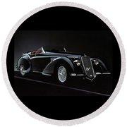 Alfa Romeo 8c 2900 Mercedes Benz Round Beach Towel