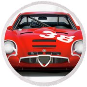 Alfa Romeo Giulia Tz2 Round Beach Towel by Alain Jamar