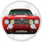 Alfa Romeo Gtam  Round Beach Towel by Alain Jamar