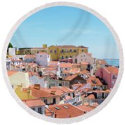 Alfama Round Beach Towel
