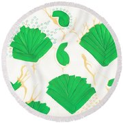 Algae Blooms Round Beach Towel