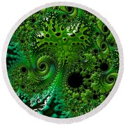 Algae Round Beach Towel