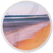 Algarve Beach, Long Exposure - Portugal Round Beach Towel