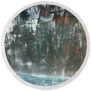 Algonquin Forest River Round Beach Towel