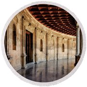 Alhambra Reflections Round Beach Towel by Marion McCristall