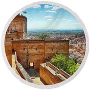 Alhambra Tower Round Beach Towel