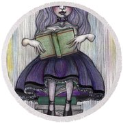 Alice In Another World 2 Round Beach Towel