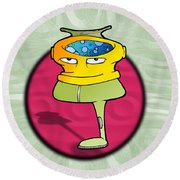 Alice Round Beach Towel by Uncle J's Monsters