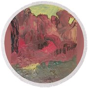 Alien Landscape Round Beach Towel