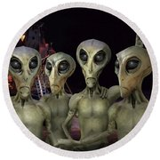 Alien Vacation - Kennedy Space Center Round Beach Towel by Mike McGlothlen