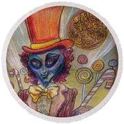 Alien Wonka And The Chocolate Factory Round Beach Towel