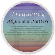 Alignment Matters Round Beach Towel
