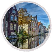 Alkmaar From The Bridge Round Beach Towel