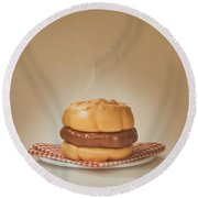 All-american Burger Round Beach Towel