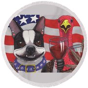 All American Winers Round Beach Towel