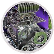 All Chromed Engine With Blower Round Beach Towel