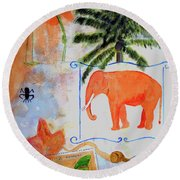 All Creatures Great And Small Round Beach Towel
