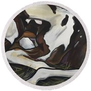 All Legs And Spots Round Beach Towel