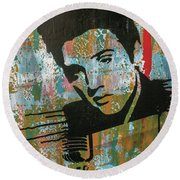 Round Beach Towel featuring the painting All My Dreams Fulfill by Jayime Jean