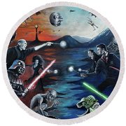 All Out War Round Beach Towel