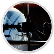 Round Beach Towel featuring the photograph All Ready by Paul Job