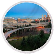 All Roads Lead To Seattle Round Beach Towel