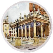 All Saints Church Northampton Round Beach Towel