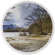 Round Beach Towel featuring the photograph All Seasons At Loch Lomond by Jeremy Lavender Photography