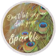 All-seeing Quote Round Beach Towel