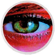 All Seeing Round Beach Towel